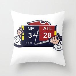 NE 34-ATL 28 Ultimate Comeback Throw Pillow