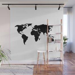 World Outline Wall Mural
