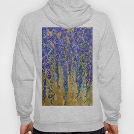 Wisteria Abstract Painting, Colorful Wall Art, Floral Home Decor Hoody