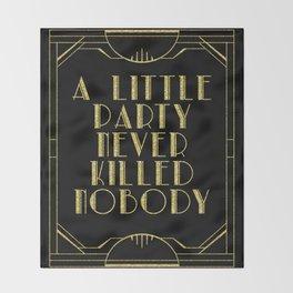 A little party - black glitz Throw Blanket
