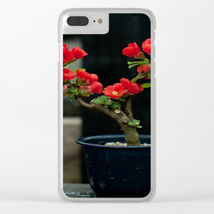 BEAUTIFUL CAMELIA BONSAI Clear iPhone Case