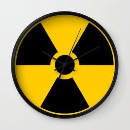 Radioactive signal, danger signal for warning Wall Clock