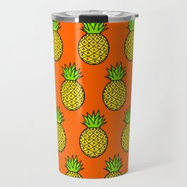 Tropical Pineapple Pattern Travel Mug