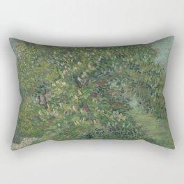 Horse Chestnut Tree in Blossom Rectangular Pillow