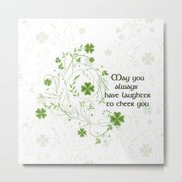 St. Patrick's Day Irish Blessing Metal Print