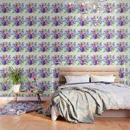 Flores en aquarela Wallpaper