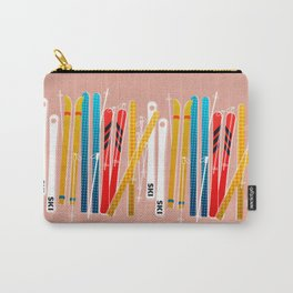Colorful Ski Illustration and Pattern no 2 Carry-All Pouch