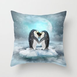 Listen Hard (Penguin Dreams) Throw Pillow