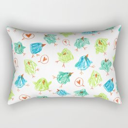 Scribble Birds Rectangular Pillow