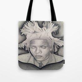 """Immortalizing in Stone"" Jean-Michel Basquiat Drawing Tote Bag"