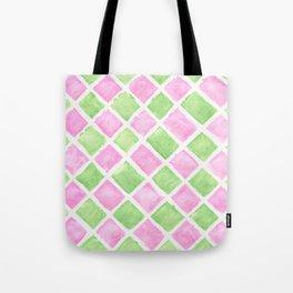 Pastel squares Tote Bag