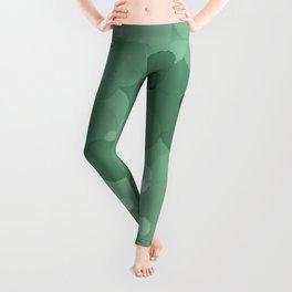 Grayed Jade Bubble Dot Color Accent  Leggings