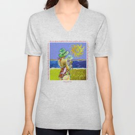 'Mary and Max' (Saw Sea Art Series) Unisex V-Neck