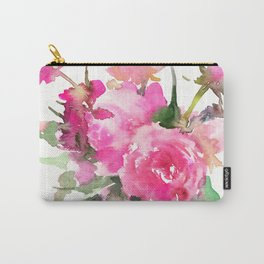 soft pink peonies Carry-All Pouch