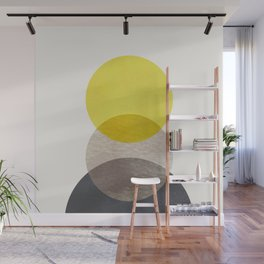 SUN MOON EARTH Wall Mural