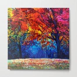 Tardis Tree Art Blossom Metal Print