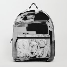 CHANELNo. 5 Black and White Backpack