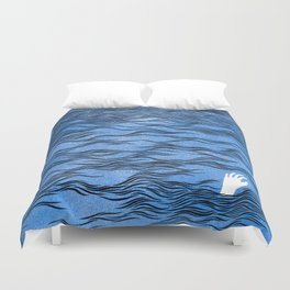 Man & Nature - The Dangerous Sea Duvet Cover