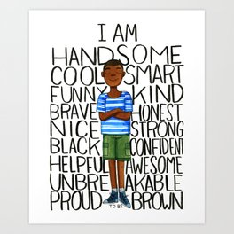 Proud to be Brown (boy) Art Print