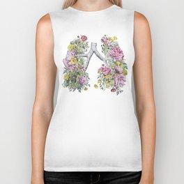 Floral Anatomy Lungs Biker Tank