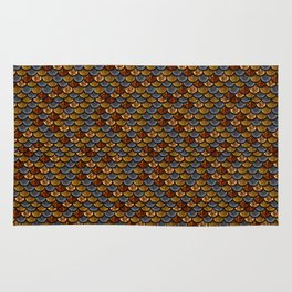 Glitter Fish Gold and Blue Rug