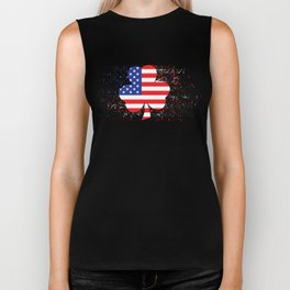 Irish American Map Biker Tank