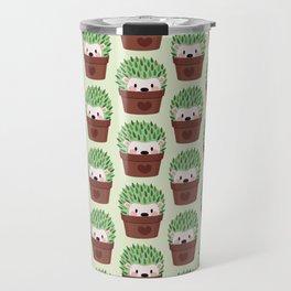 Hedgehogs disguised as cactuses Travel Mug