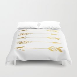 Faux gold foil arrows Duvet Cover