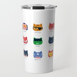 Cats Super Heroes Travel Mug