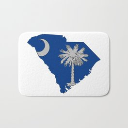 South Carolina Map with State Flag Bath Mat