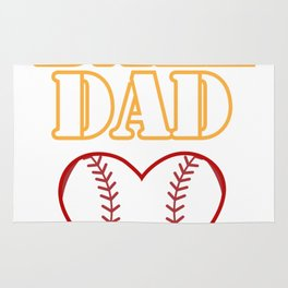 Ball Dad Love Softball Baseball Fathers Day Gifts Rug