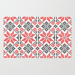 Romanian Traditional Embroidery Rug
