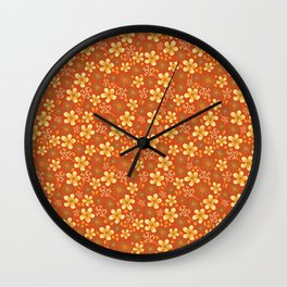 Fairy Flowers Wall Clock