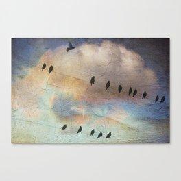 lazy birds Canvas Print