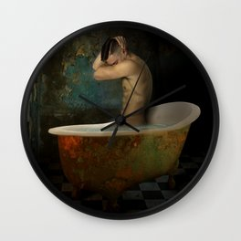 male nude Wall Clock