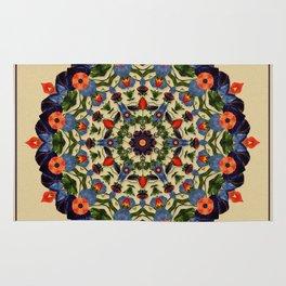 Flower and Fruit Collage Mandala Rug