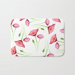 Poppy pattern Bath Mat