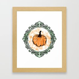 Pumpkin Coquine Framed Art Print