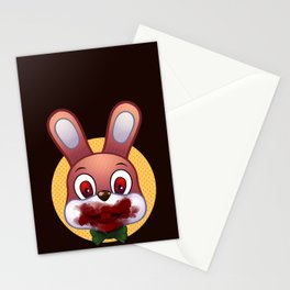 Robbie The Rabbit Bloodied Stationery Cards