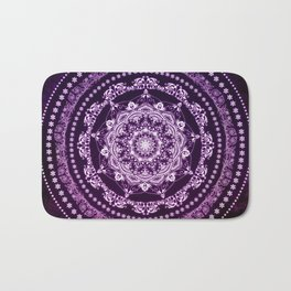 Purple Glowing Soul Mandala Bath Mat