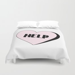 Help Candy Heart Duvet Cover