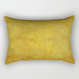 """""""Gold & Ocher Burlap Texture"""" Rectangular Pillow"""