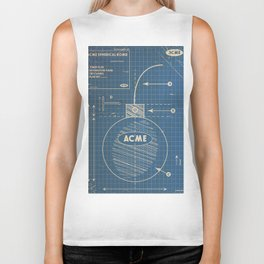 Acme Spherical Bomb vintage Blueprint Biker Tank