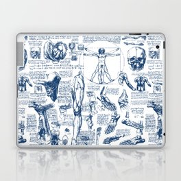 Da Vinci's Anatomy Sketchbook // Dark Blue Laptop & iPad Skin