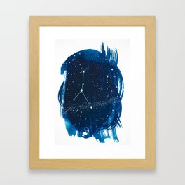 Cancer Zodiac Print Framed Art Print