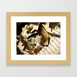 It's all words Framed Art Print