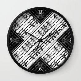 X Marks the Spot Wall Clock
