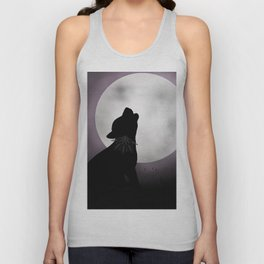 Howling at the moon Unisex Tank Top