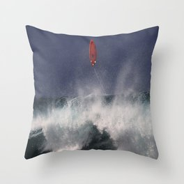 Let's go fly a surfboard on the North Shore. Throw Pillow