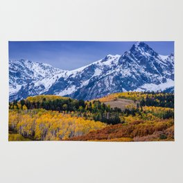 Sneffels Range Fall Sunrise - Colorado Rug
